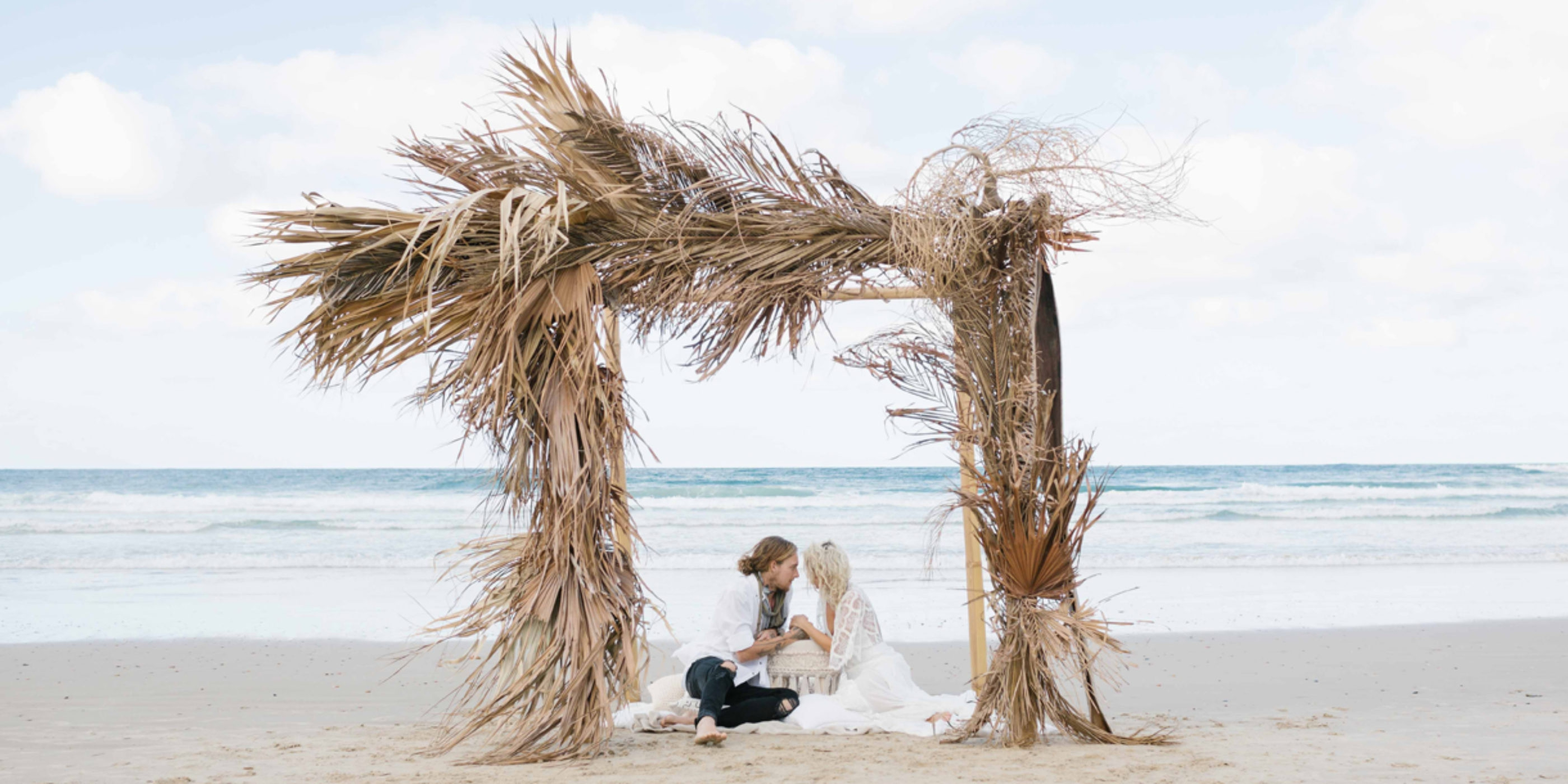 palm dry leaves wedding